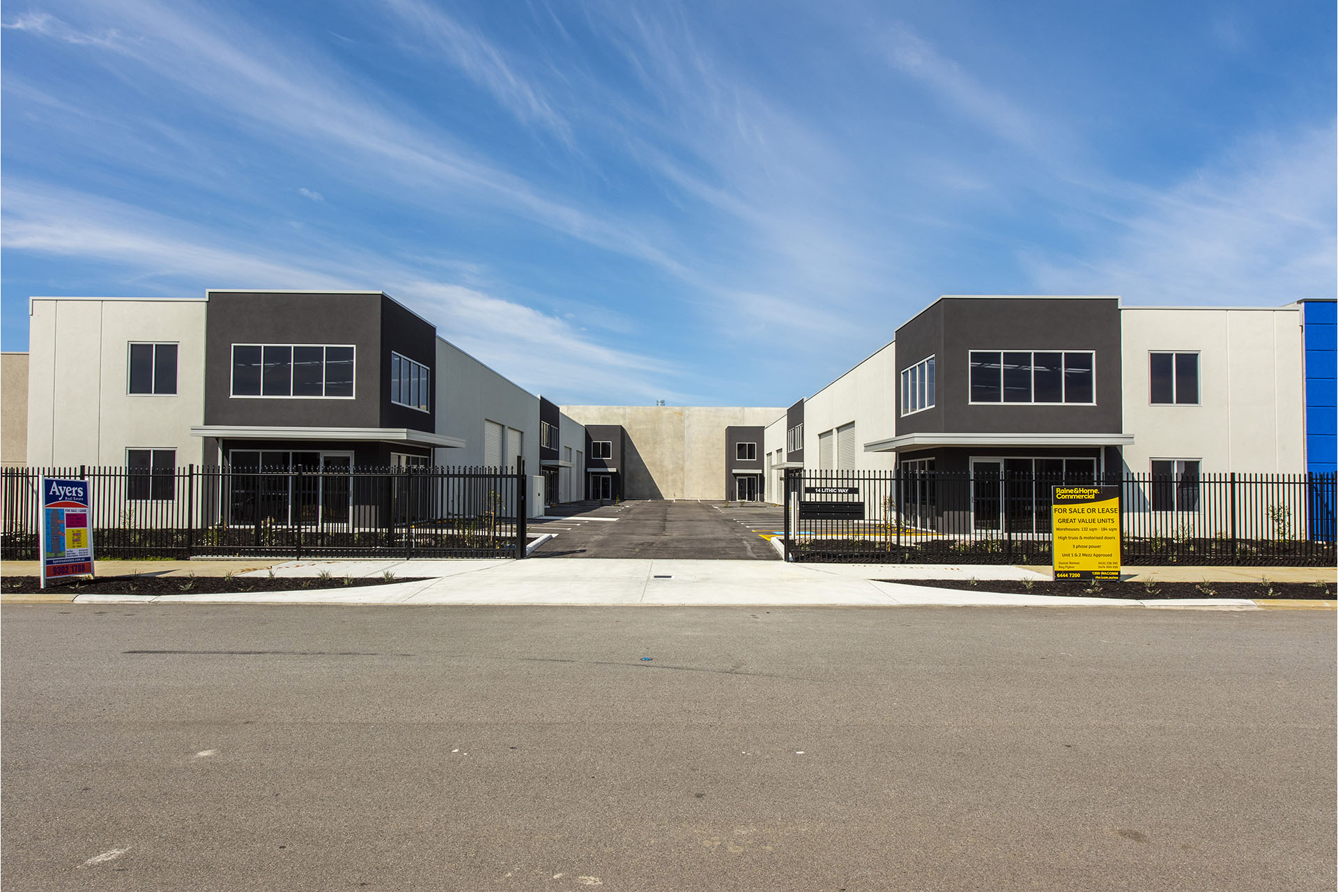 Front view of Lithic Way Wangara - Built Ink Perth Commercial and Industrial Project